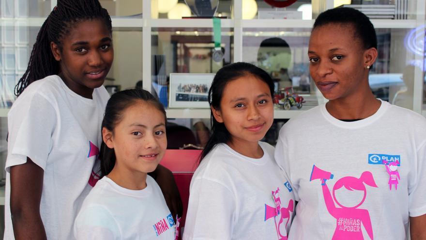 Josephine, Naydelin, Estefany y Ezelina durante la entrevista