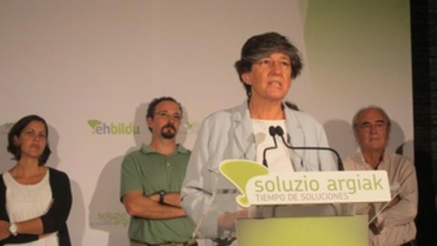 La candidata de EH Bildu, Laura Mintegi