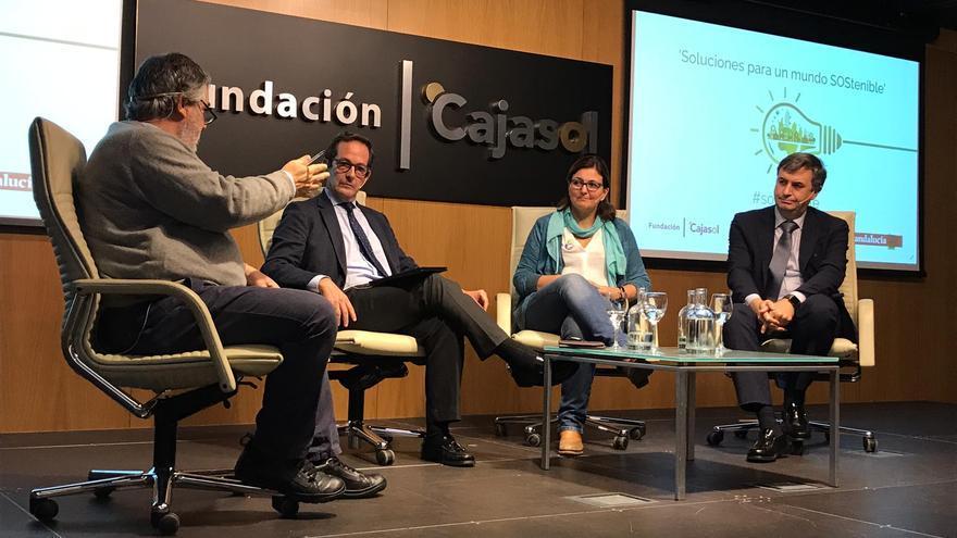 La mesa de debate que cerró la jornada en la Fundación Cajasol.