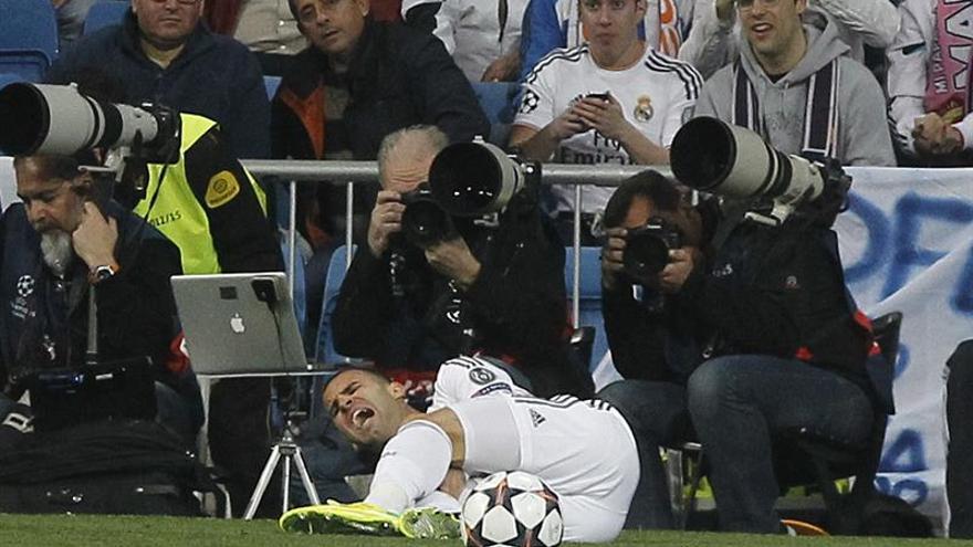 Jesé. tras lesionarse en el partido de vuelta de octavos de final de la Liga de Campeones