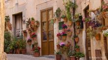 Calles de Valldemosa, Sierra de Tramontana, Mallorca