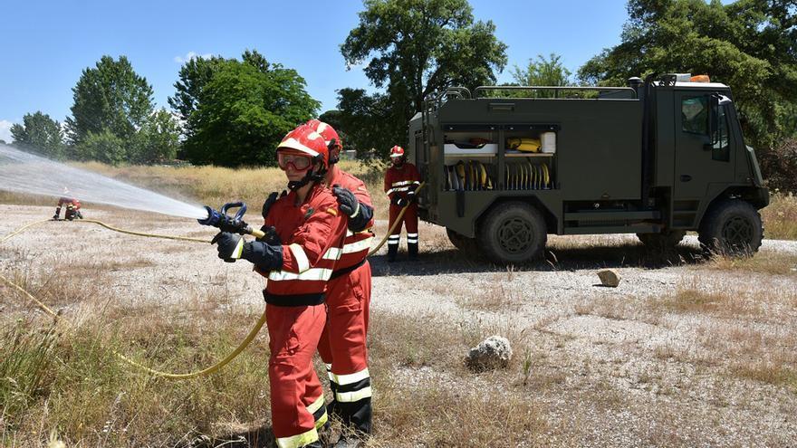 Trabajos de prevención de incendios en Cerro Muriano.