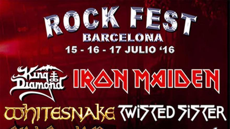 Cartel del Rock Fest, en Barcelona.