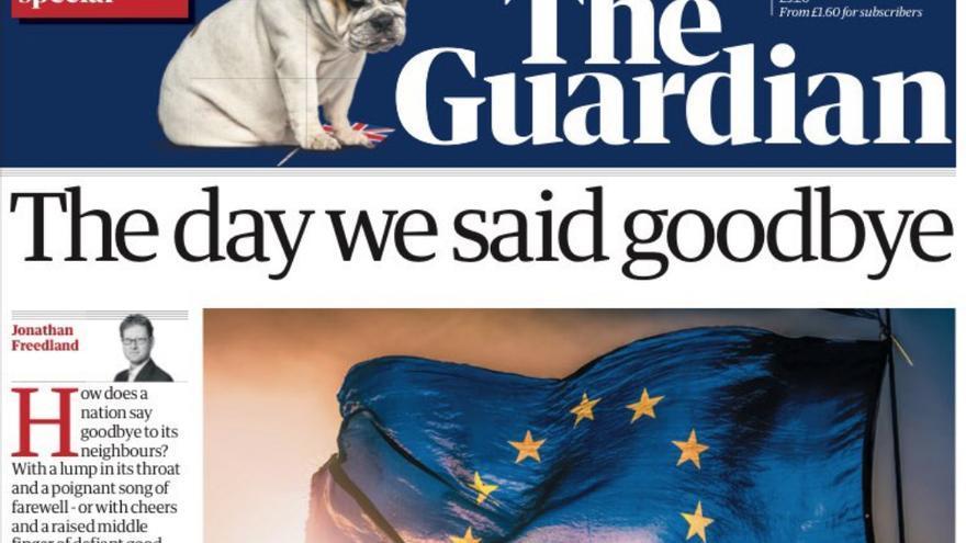 Portada de The Guardian tras el Brexit.