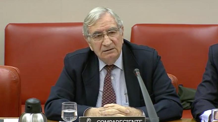 Fernando Montes, durante su comparecencia en el Congreso de los Diputados en una imagen de la propia Cámara