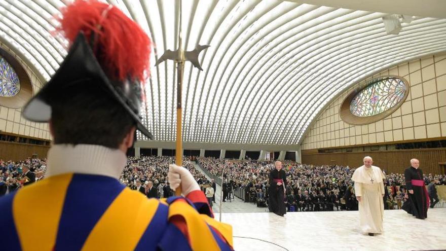 El papa Francisco durante la audiencia general celebrada en el aula Pablo VI en el Vaticano.