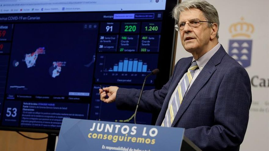 El consejero de Sanidad del Gobierno regional, Julio Pérez