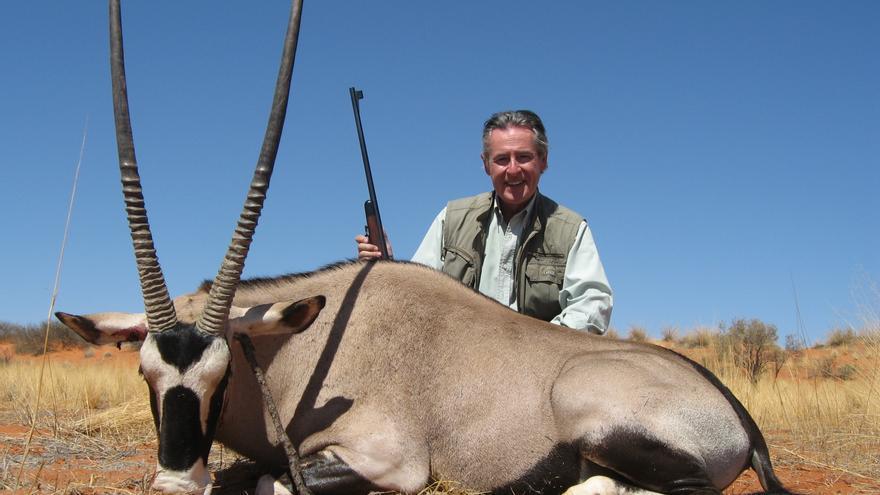 Miguel Blesa, de cacería en Namibia, en noviembre de 2007.