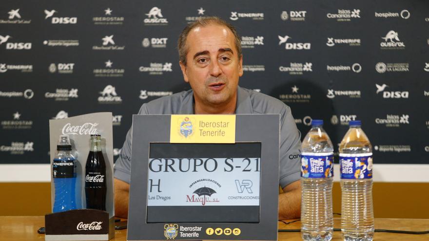 Vidorreta durante su rueda de prensa de este viernes en el Pabellón Santiago Martín.