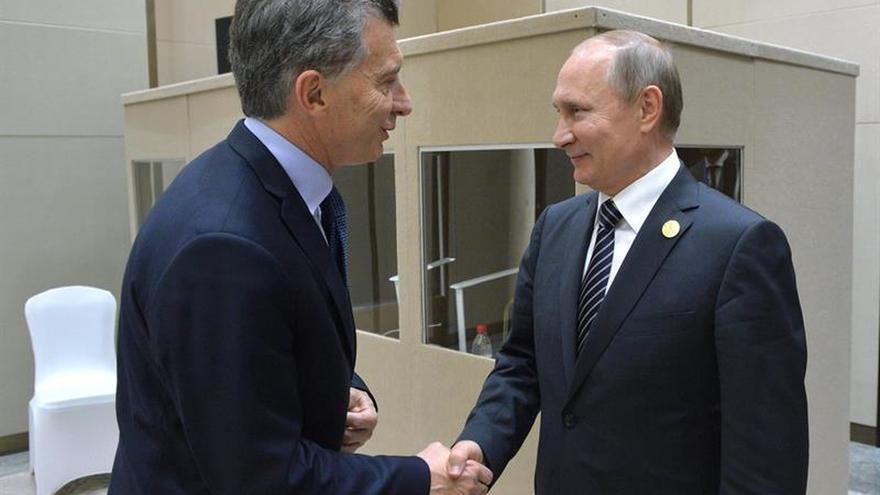 Macri se ve con Rajoy, Putin y Modi en un intenso día de promoción económica del G20