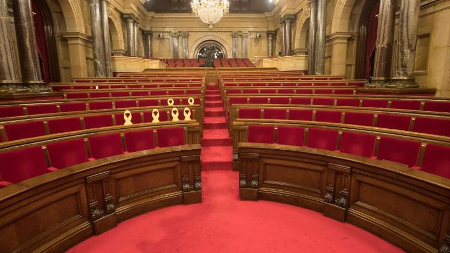 Vista del hemiciclo del Parlament de Cataluña.