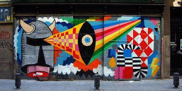 Mural de 3ttMan y Remed | Foto: Guillermo de la Madrid (www.escritoenlapared.es)