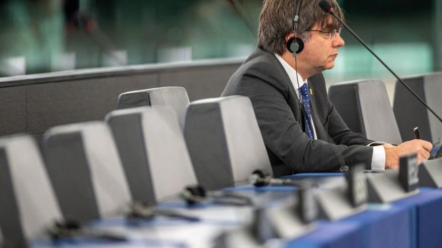 Carles Puigdemont, en el Europarlamento.