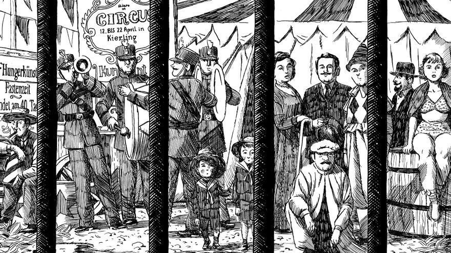 Ilustración para 'La metamorfosis' de Franz Kafka. (Astiberri, 2011).