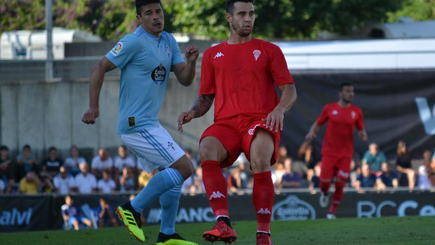 Jaime Romero, autor del gol del Cordoba, en el partido ante el Celta   CCF