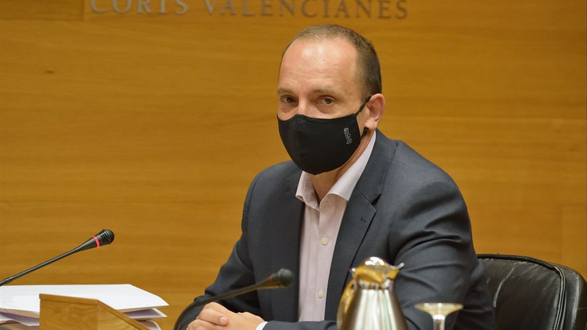 Rubén Martínez Dalmau en las Corts Valencianes.