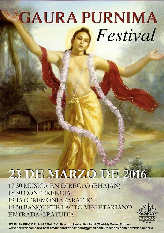Cartel del Festival del Avatar Dorado | KRISNA MADRID