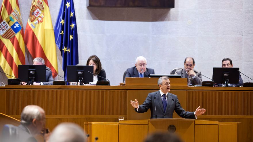 El consejero de Hacienda del Gobierno de Aragón, Javier Campoy