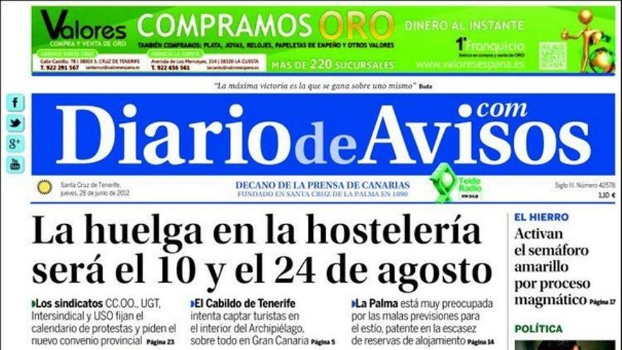 De las portadas del día (28/06/2012) #3