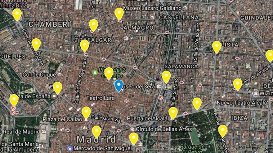 Distribución de las mestas de votación durante el fin de semana