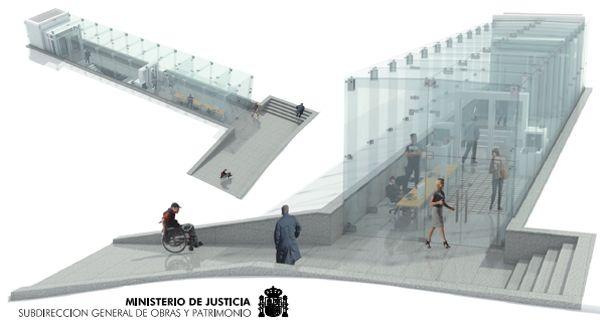 Infografías 3D del aspecto de la cristalera | Imágenes: Ministerio de Justicia