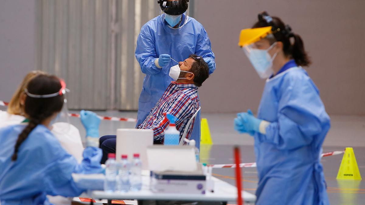 Test para detectar el coronavirus en un cribado.