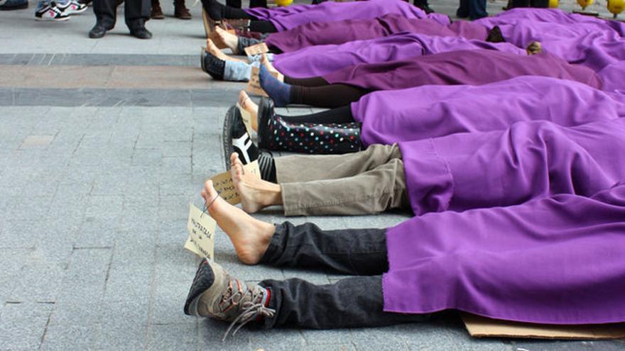 Protesta contra la violencia machista.
