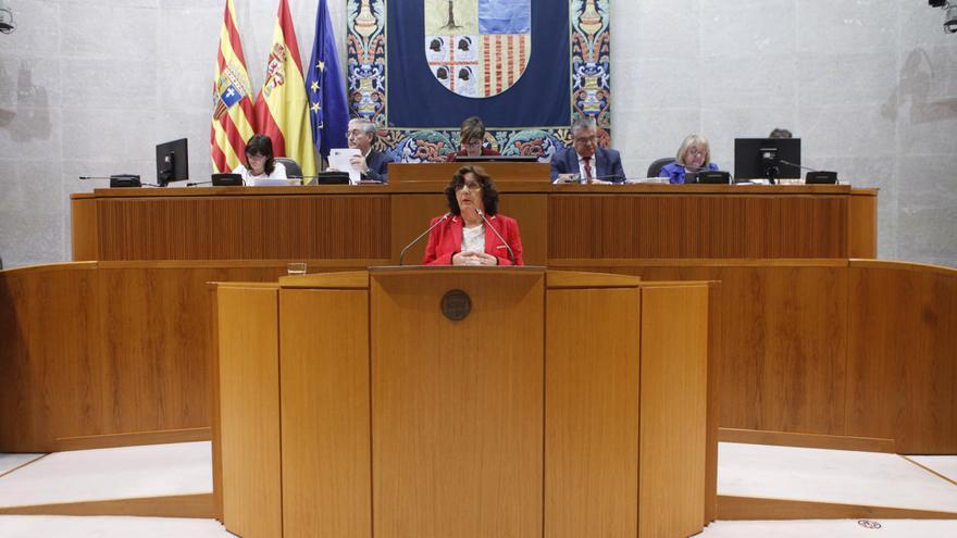 La consejera de Ciudadanía y Derechos Sociales del Gobierno de Aragón, María Victoria Broto