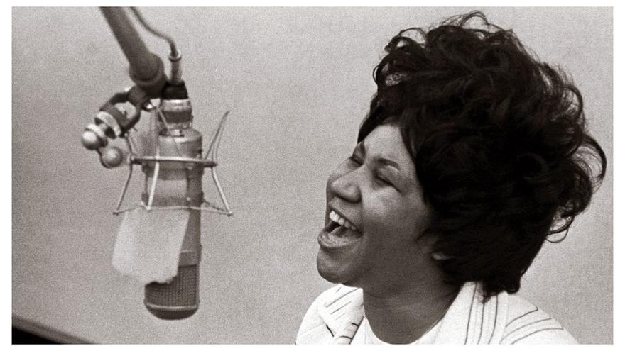 Una joven Aretha Franklin