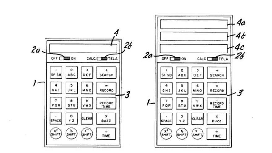 Concepto de la guía de teléfonos electrónica de bolsillo de 1977
