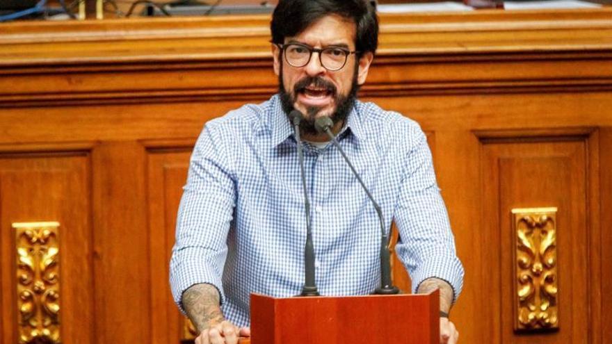 En la imagen, el representante del líder opositor venezolano Juan Guaidó ante Naciones Unidas, Miguel Pizarro.