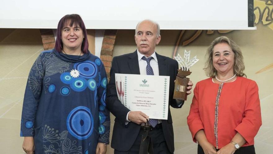 Entrega de los premios, con la consejera Begoña García-Bernal / Junta