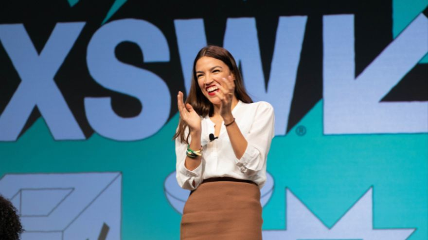 La congresista estadounidense Alexandria Ocasio-Cortez.