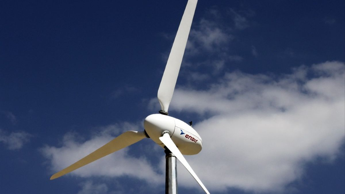 Aerogenerador eólico.