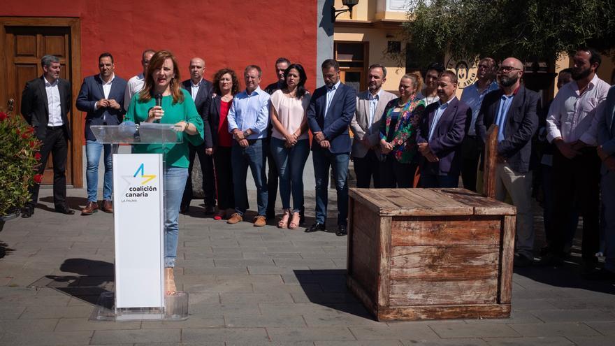 Acto  de CC de  la firma este martes en Breña Alta del 'Contrato con Canarias'.
