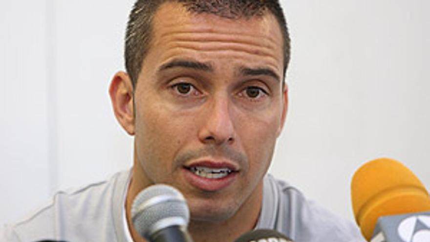 El jugador de la Unión Deportiva Las Palmas Pedro Vega. (QUIQUE CURBELO)