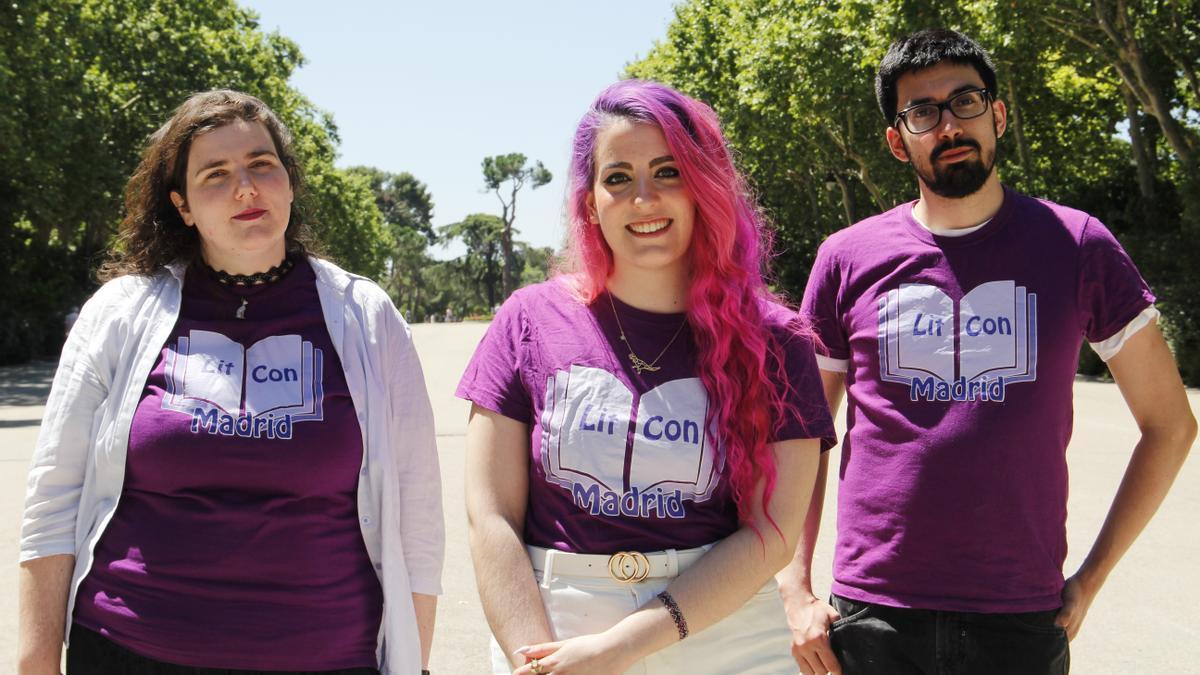 Míriam Álvarez, Celia Merino, Álex López son parte del equipo de Lit Con Madrid que movilizan un gran comunidad de lectores de libro juvenil