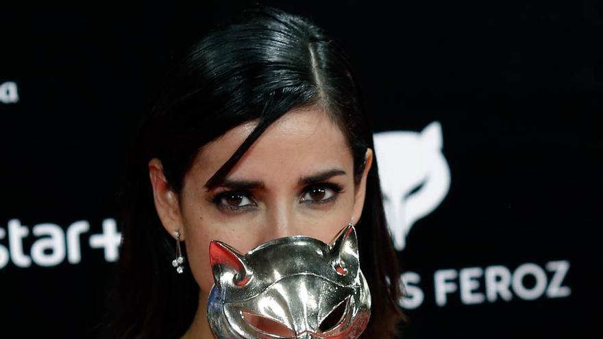 La actriz Inma Cuesta, tras ganar el premio Feroz a la mejor actriz por 'La novia'