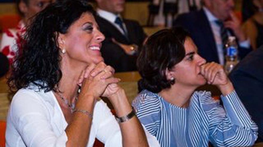 María José Gualda, a la derecha, en una imagen de archivo.
