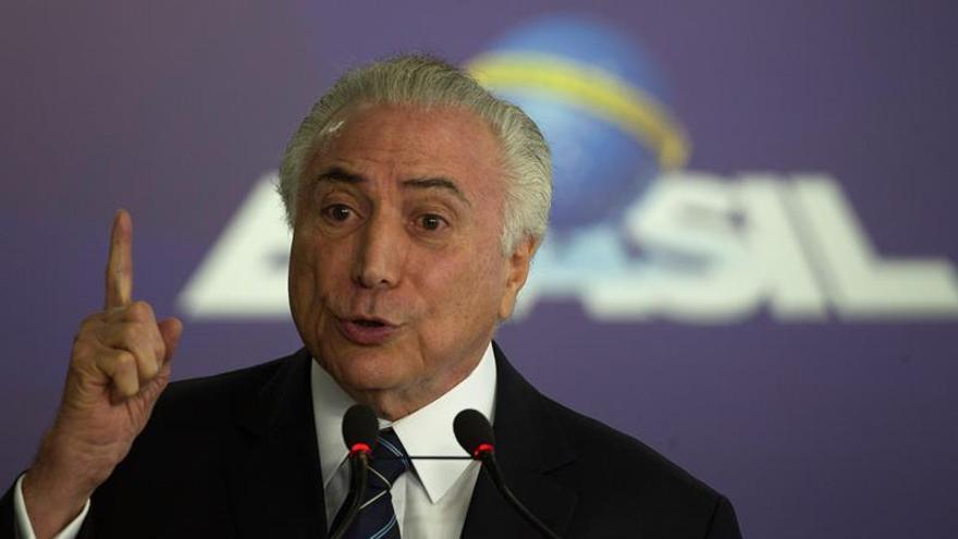 """Temer dice que hay """"intentos"""" de impedir la armonía entre poderes en Brasil"""