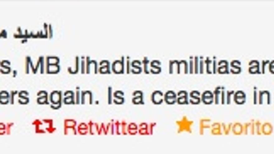 Tuit del bloguero egipcio Sandmonkey