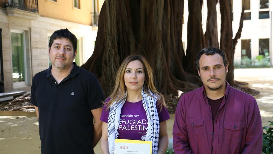 Josep Nada, Rosa Mustafa y Jordi Alamán con la PNL