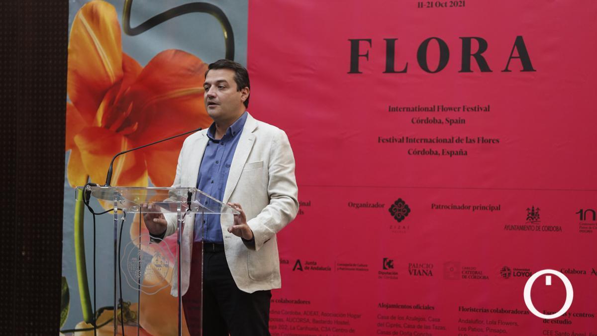 El alcalde, José María Bellido, en la presentación de 'Flora, Festival Internacional de las Flores'