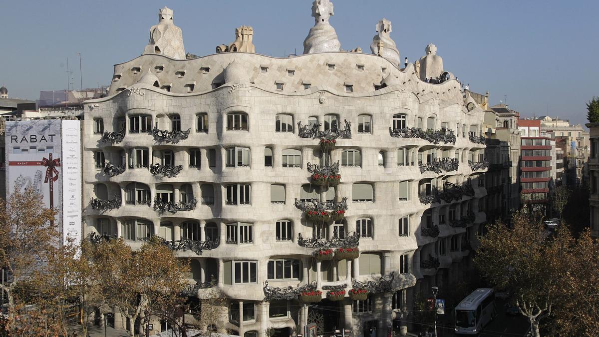 La Pedrera, de Gaudí, uno de los edificios más emblemáticos de Barcelona