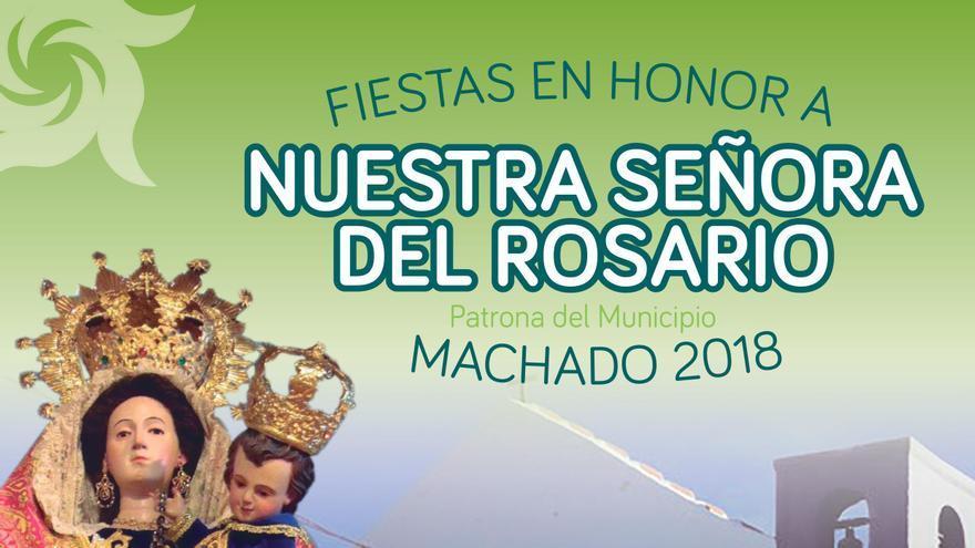 Cartel de los festejos de Machado en 2018