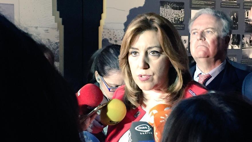 """Susana Díaz defiende que el PSOE hace """"oposición útil"""" con resultados frente a la del """"espectáculo"""" de Iglesias"""