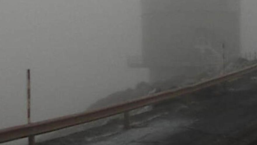 Frío intenso en las cumbres: un grado bajo cero en El Roque