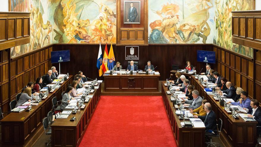 Pleno del Cabildo de Gran Canaria celebrado este viernes 26 de enero de 2018.