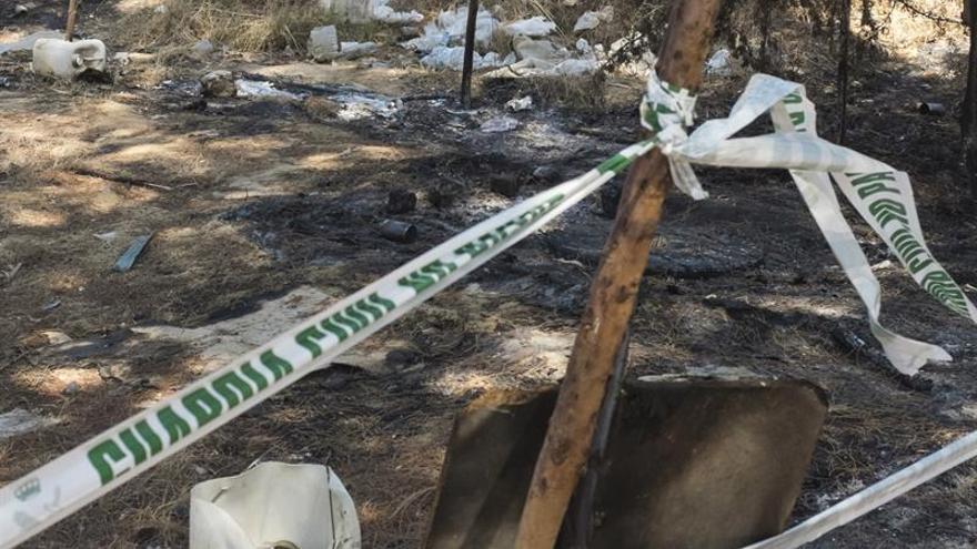 Los restos humanos hallados en Moguer (Huelva) son el cráneo y los huesos de un adulto