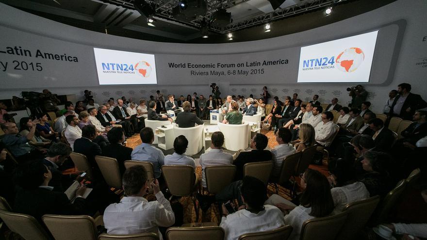 Participants at the World Economic Forum on Latin America in Riviera Maya, Mexico 2015. © World Economic Forum / Benedikt von Loebell